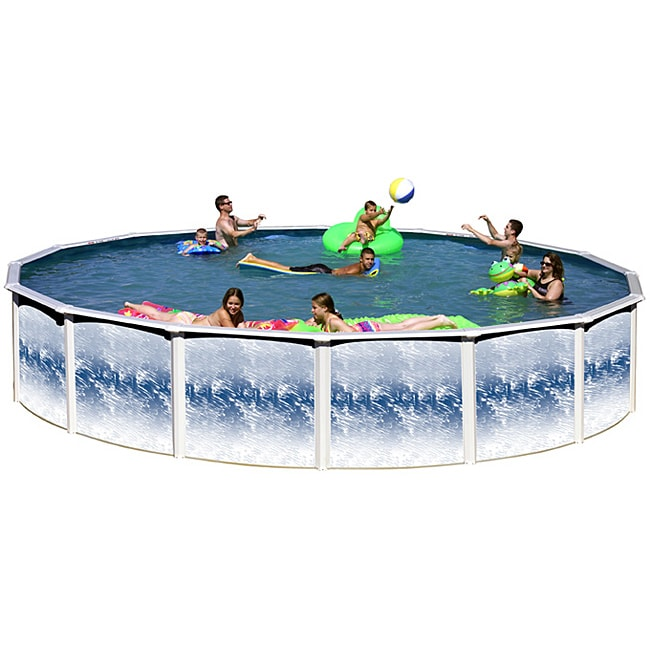"Yorkshire 24' X 48"" Round Above Ground Pool Package by Overstock"
