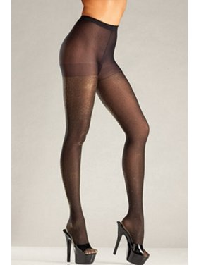 833a115d57 Product Image Be Wicked Black Gold Opaque Lurex Tights BW688GD Black Gold
