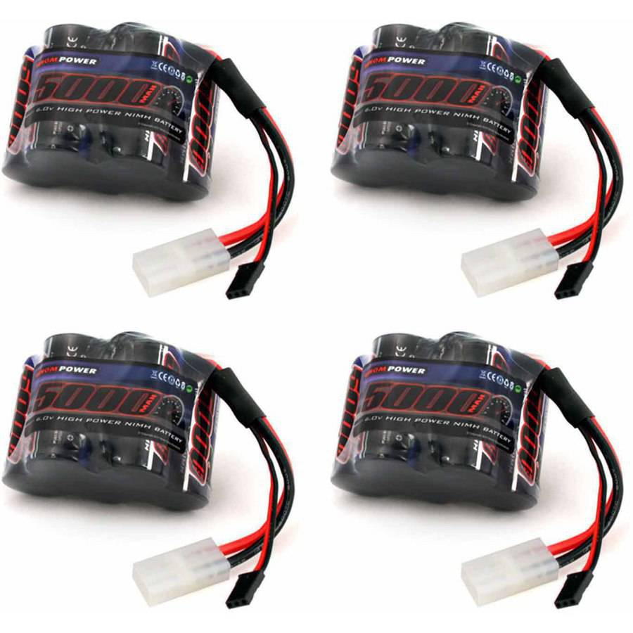Venom 6v 5000mAh 5-Cell Hump Receiver NiMH Battery for HPI Baja x4 Packs