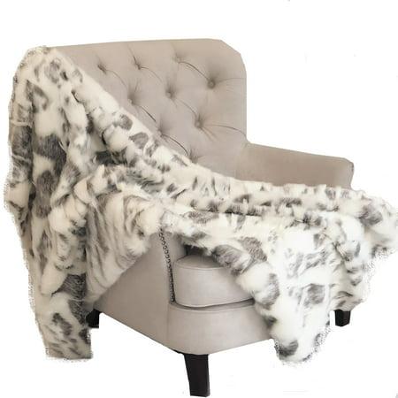 Faux Fur Handmade Luxury Throw 36in x 60in