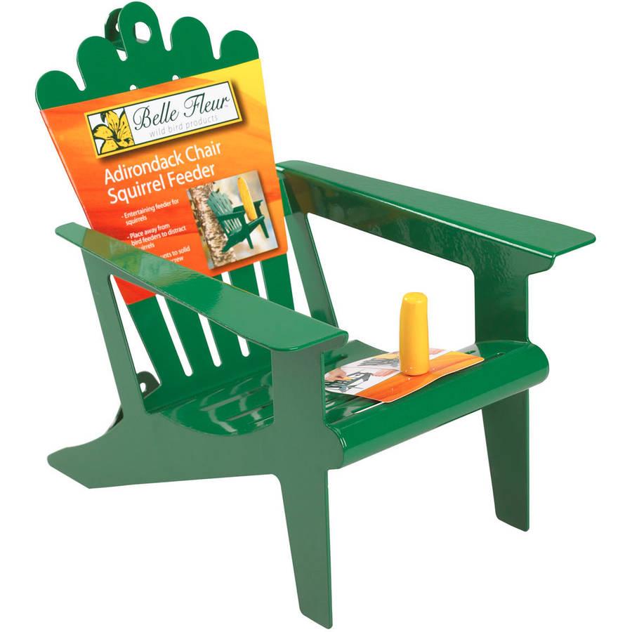 Superbe Belle Fleur Adirondack Chair Squirrel Feeder, Green, 1 Corn Cob Capacity