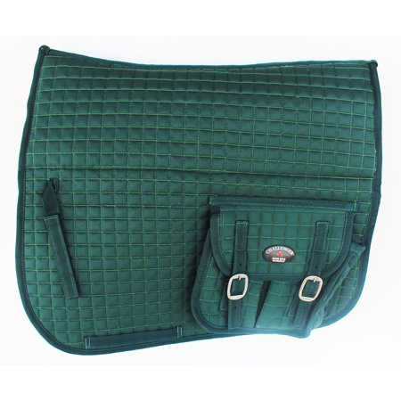 - Horse Quilted ENGLISH SADDLE PAD FUR Aussie Australian Dressage Pockets 7290