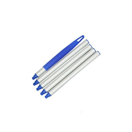 Pool Central Aluminum Swimming Pool Straight Extension Pole for Skimmers 5pc 4