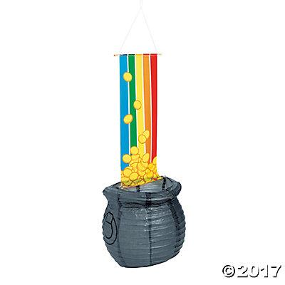 Pot of Gold Hanging Paper Lantern