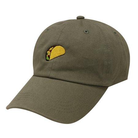 9ae8187e City Hunter C104 Taco Emoji Cotton Baseball Cap Dad Hats 15 Colors (Olive)  - Walmart.com