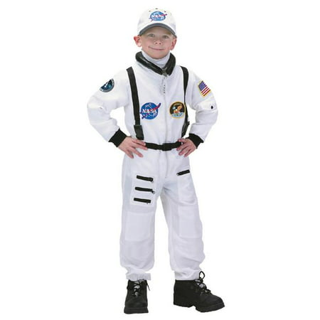 Aeromax ASWA-46 4 by 6 Apollo 11 Junior Astronaut Suit with Embroidered Cap - White