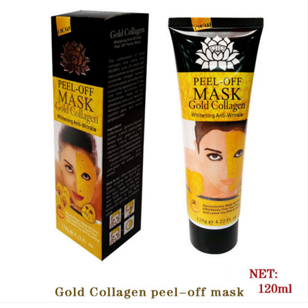 Gold Collagen Mask Peel-Off Mask for Whitening Anti-Wrinkle Blackhead Remover - Deep Cleansing Gold Mask 120ml