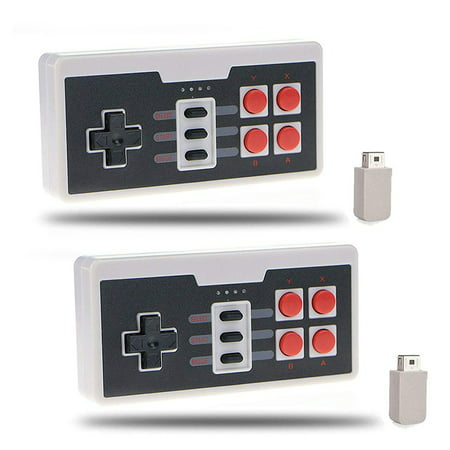 - 2-pack Wireless Controller Gamepad for Nintendo NES Classic Mini Edition Console
