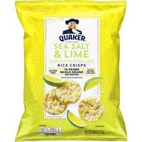 Quaker Rice Crisps, Sea Salt & Lime, 6.06 oz Bag