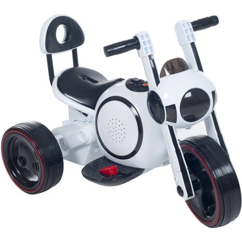 3 Wheel LED Mini Motorcycle Trike, Ride on Toy for Kids by Rockin Rollers � Battery... by Trademark Global LLC