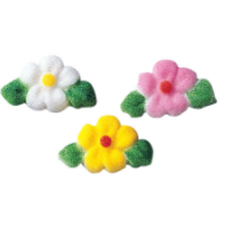 24pk Leafed Flower Charms (14362) 7/8