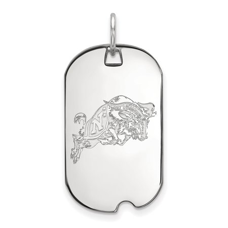 14k White Gold Navy Small Dog Tag LAL134058 - White Gold Dog Tags