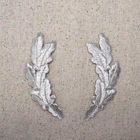 Metallic Silver - Scrambled Eggs - Military Uniform - Iron on Applique Embroidered