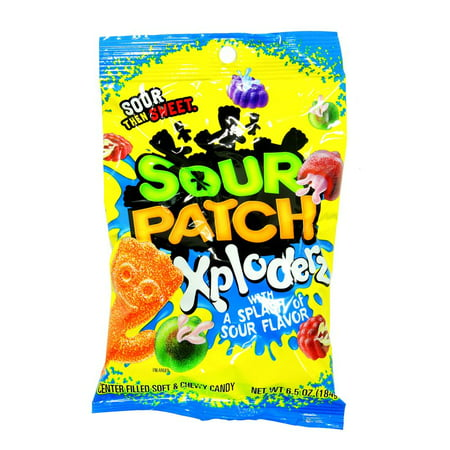 Sour Patch Kids, Xploderz Soft and Chewy Candy, 6.5 Oz (Pack of 12) (Sour Patch Kids Ingredients)