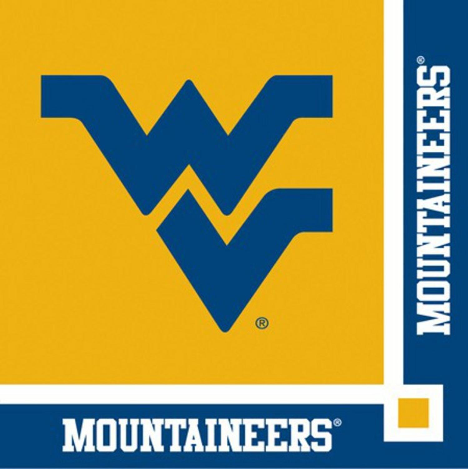 240 NCAA West Virginia Mountaineers 2-Ply Tailgating Party Beverage Napkins