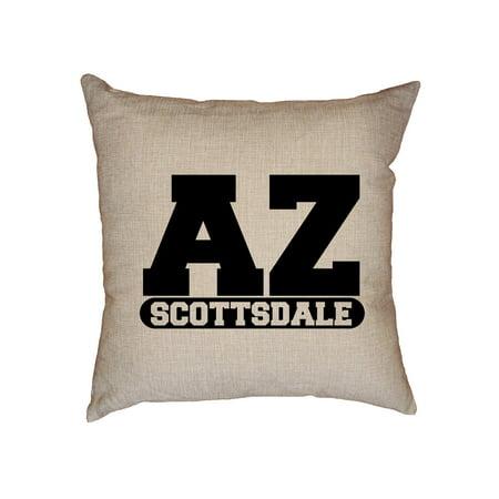 Scottsdale, Arizona AZ Classic City State Sign Decorative Linen Throw Cushion Pillow Case with Insert