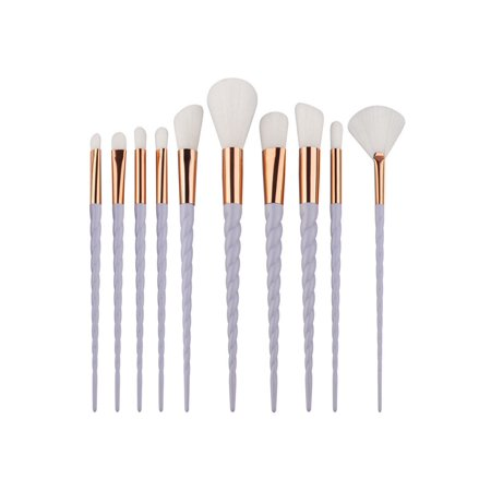 10pcs Unicorn Makeup Brushes Set Powder Foundation Eyeshadow Cosmetic Brush Tool - Unicorn Halloween Costume Makeup