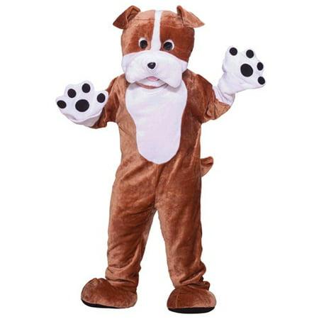 Bulldog Mascot Adult Halloween Costume, Size: Men's - One Size