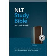 NLT Study Bible, TuTone (Red Letter, LeatherLike, Twilight Blue/Brown, Indexed)