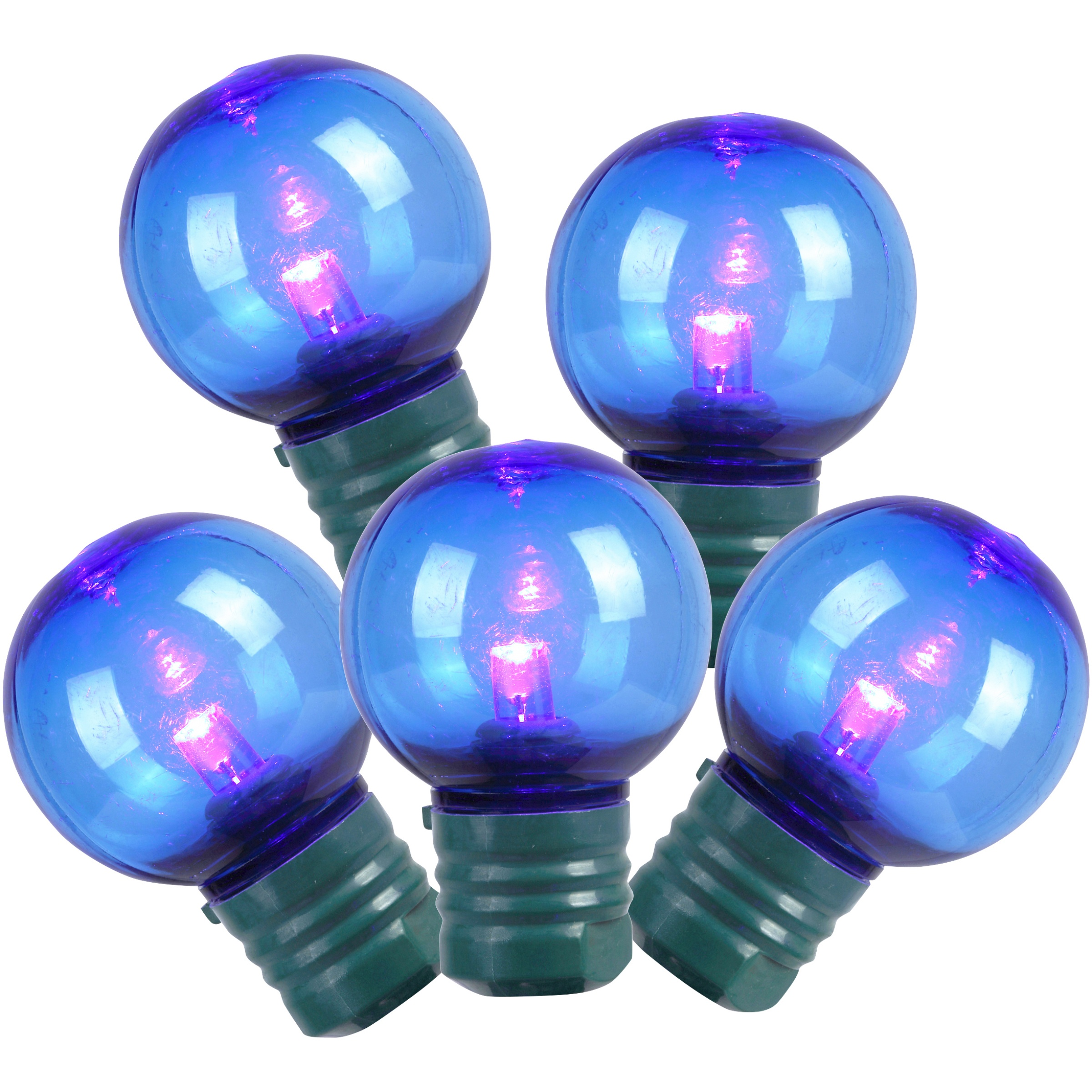 Holiday Time Indoor & Outdoor LED Blue Super Bright G30 Lights, 58', 100 Count
