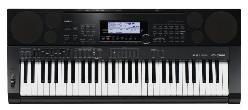 Casio CTK7000 61-Key Portable Keyboard with Power Supply by Casio Computer Co., Ltd