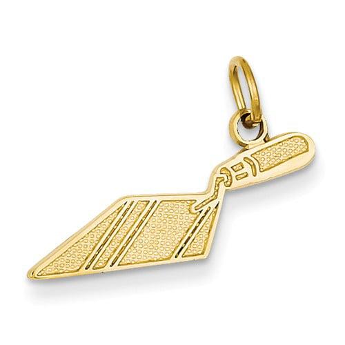 14k Yellow Gold Brick Trowel Charm Pendant
