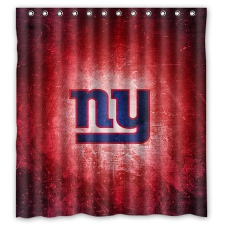 New York Giants Drapes - DEYOU New York Giants Shower Curtain Polyester Fabric Bathroom Shower Curtain Size 66x72 inch