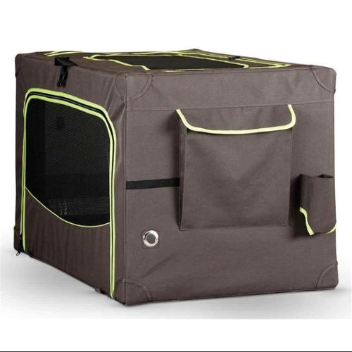 Pet Crate in Brown and Lime Green (Extra Large - 42 in. L x 28 in. W x 27 in. H)