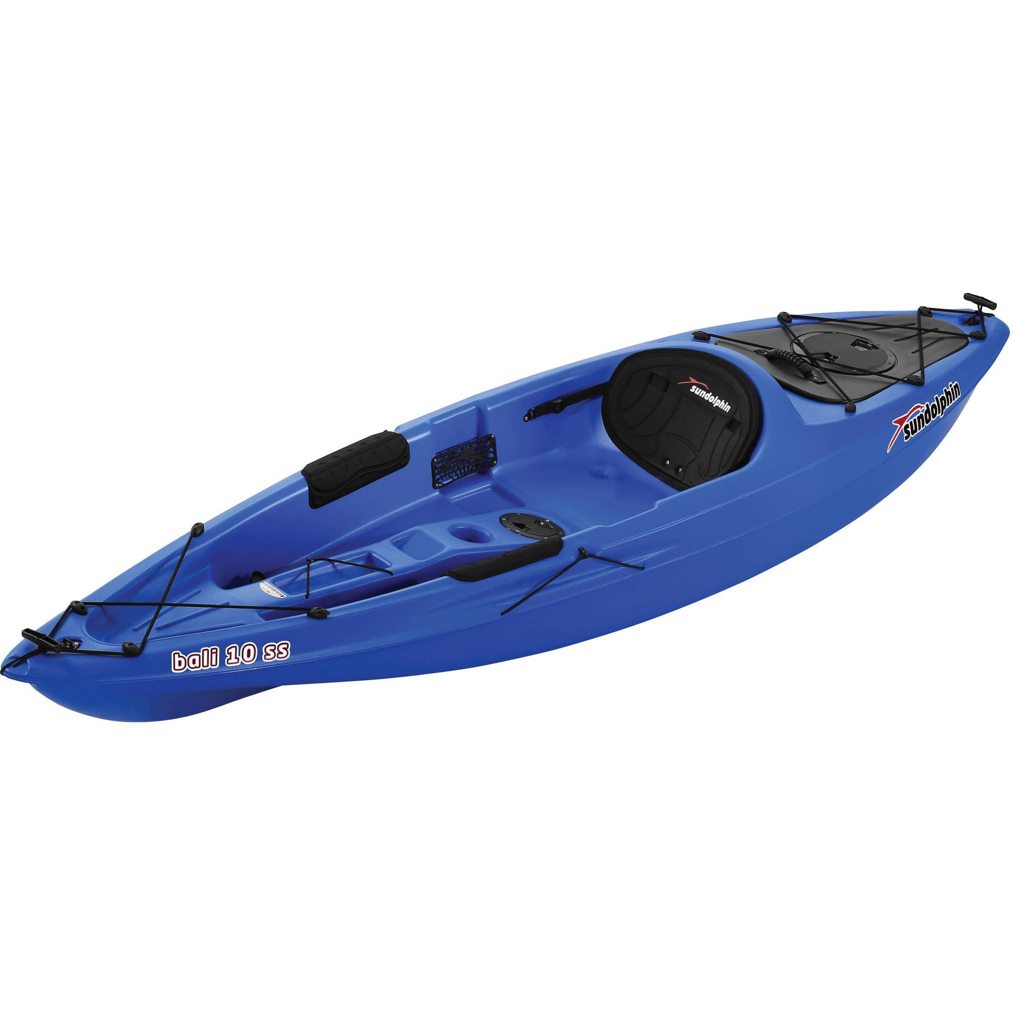 Sun dolphin bali 10 39 sit on kayak dark blue ocean boat for Sun dolphin fishing boat