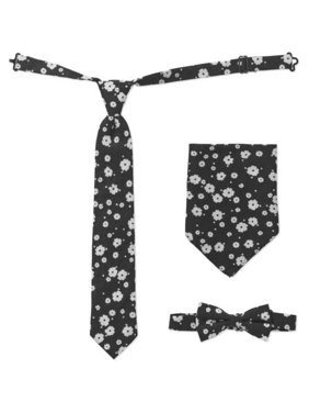 2c9a89978c52 Product Image Genevieve Goings Collection Baby Toddler Boy Floral Tie, Bow  Tie & Hanky 3 Pc Set
