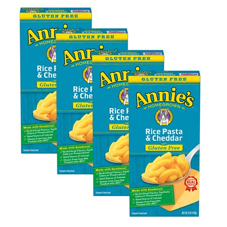 (4 Pack) Annie's Gluten Free Mac & Cheese Pasta & Cheddar Mac & Cheese 6 -