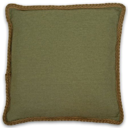 Kaya Linen Decorative Pillow Shell 20 in. W x 20 in. L in Olive