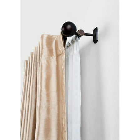 Curtains Ideas curtain rod walmart : Better Homes and Gardens Double Curtain Rod, Oil Rubbed Bronze ...