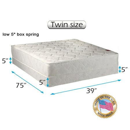 "Dream Solutions Legacy 8"" Innerspring Mattress and Low Profile Box Spring Set"