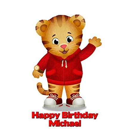 Daniel Tiger's Image Photo Cake Topper Sheet Personalized Custom Customized Birthday Party - 1/4 Sheet - 76833 (Daniel Tiger Birthday Cake)