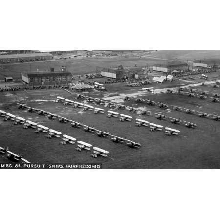 Framed Art For Your Wall Fairfield Aviation General Supply Depot buildings and aircraft 10x13