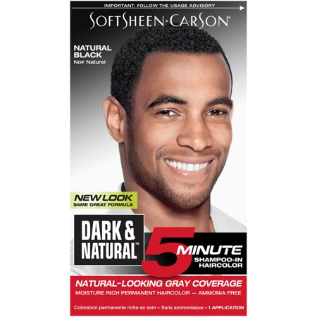 SoftSheen-Carson Dark & Natural 5 Minute Shampoo In Permanent Hair Color for Men, Natural Black