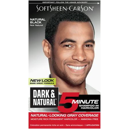 SoftSheen-Carson Dark & Natural 5 Minute Shampoo In Permanent Hair Color for Men, Natural Black](Halloween Black Hair Dye Temporary)