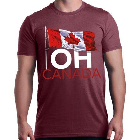 b001d19b Shop4Ever Men's Oh Canada! Canadian Graphic T-shirt - Walmart.com