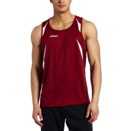 ASICS Men's Interval Sleeveless Athletic Workout Singlet Tank Shirt, Several - Athletic Jersey Workout Shirt