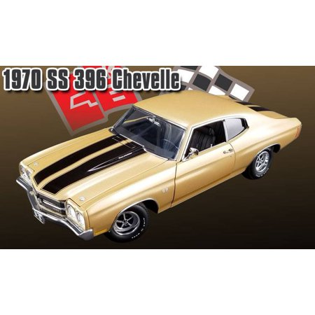 ACME 1:18 1970 CHEVROLET CHEVELLE SS 396 GOLD COLOR -