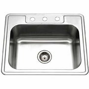 houzer 2522 8bs3 1 glowtone series topmount stainless steel single bowl kitchen sink - Kitchen Sinks Pictures