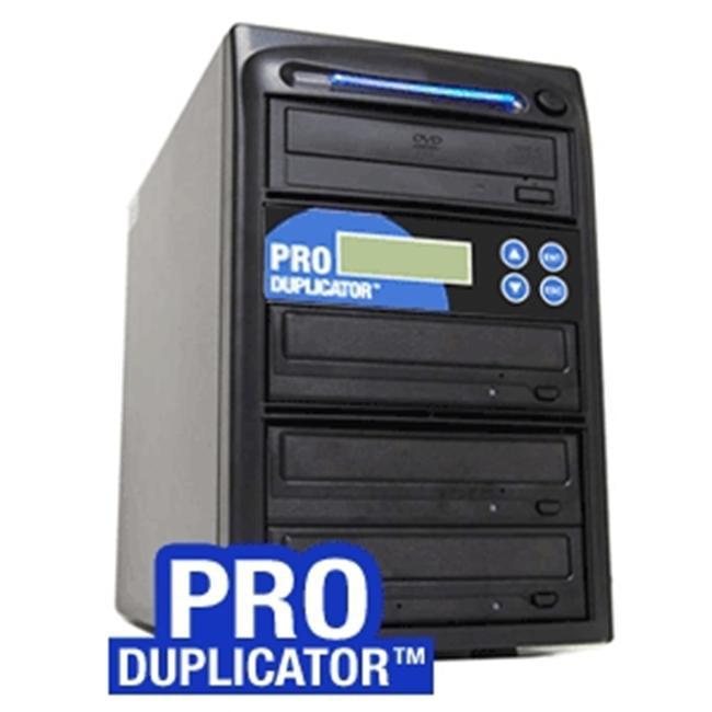 Produplicator A4DVDS24X320G 1-4 Target SATA 24x CD DVD External Burner Duplicator Plus 500GB HDD USB 2.0 Connection