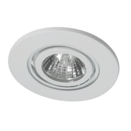 NICOR Lighting 3-Inch Recessed Gimbal Wall Wash Lighting Trim, White (13007WH)