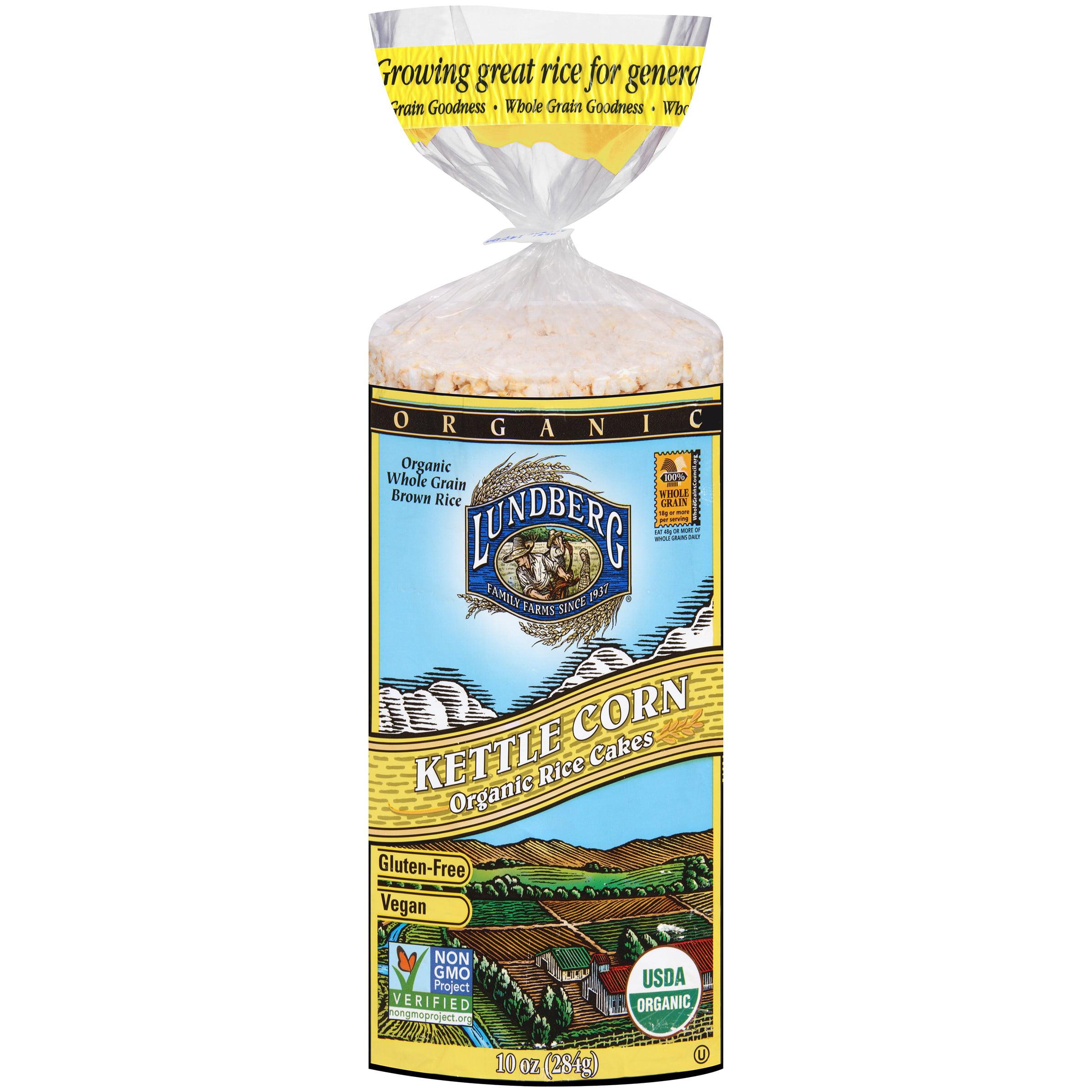 (2 Pack) Lundberg Rice Cake, Kettle Corn, 10 Oz