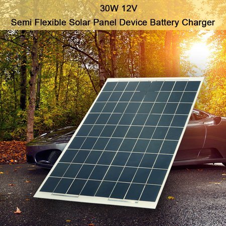 30W 12V Semi Flexible Solar Panel Device Battery Charger Monocrystalline Silicon - image 4 of 7