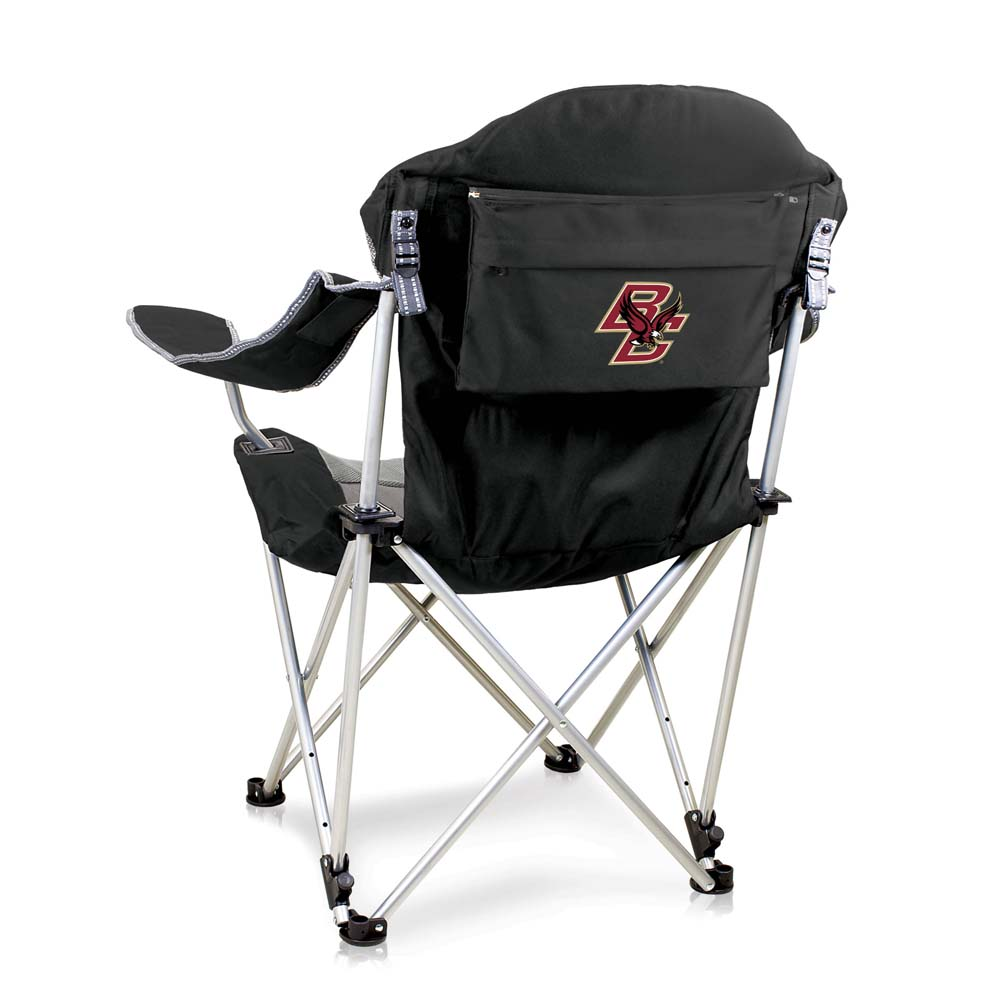 Boston College Reclining Camp Chair (Black)