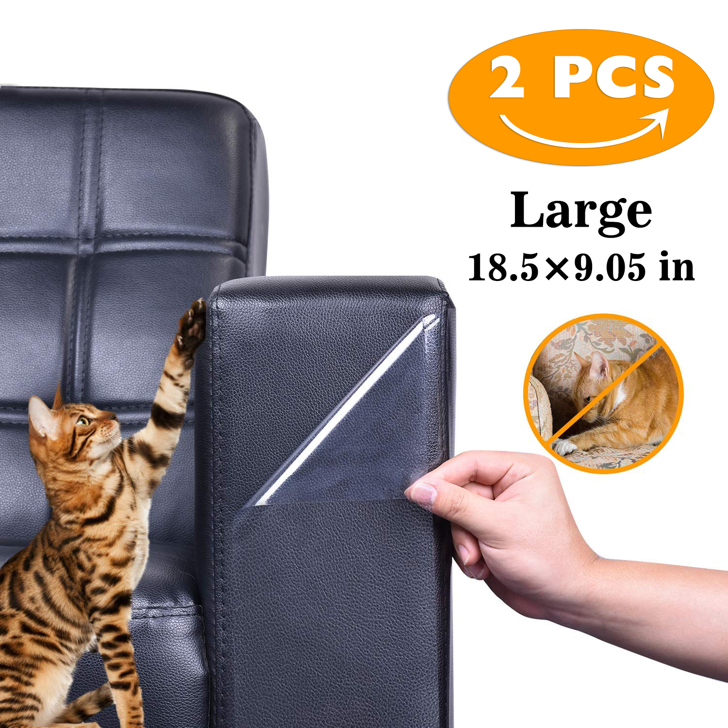 2Pcs Couch Guards Cat Claw Furniture Protector Self-Adhesive Anti Scratching Pad