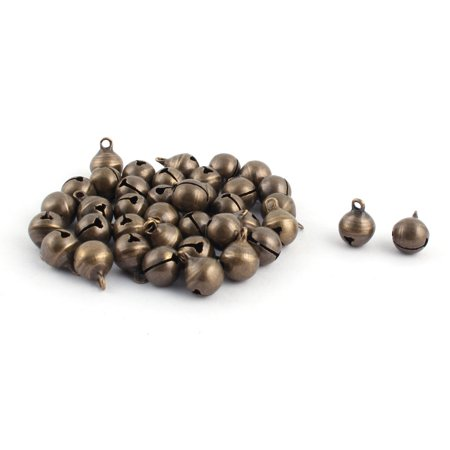 Metal Christmas Decor Jewelry Finding Jingle Bell Bronze Tone 10mm Dia 40 (Deco Findings)