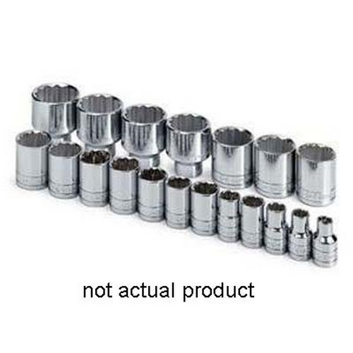"""SK Hand Tools 40214 1 2"""" Drive 12 Point Standard Fractional Socket 7 16"""" by SK Hand Tool"""